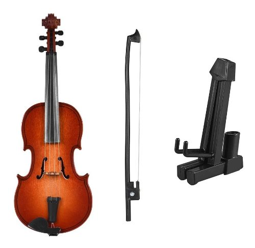 Mini Violín De Madera Modelo Exquisito Desktop Musical