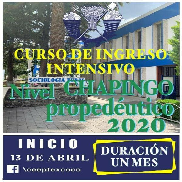 CURSO DE INGRESO A CHAPINGO 2020