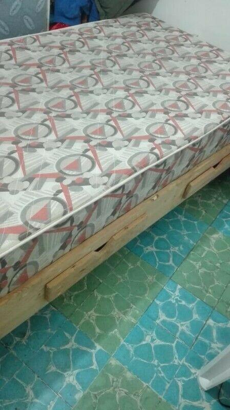 Cama individual base y colchón