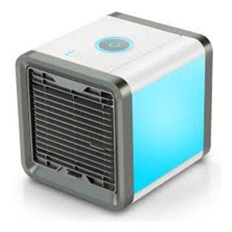 Mini Ventilador Enfriador De Aire Portatil Luz Led 7 Colores