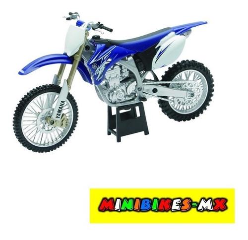 Azul Moto De Colección Yamaha Yz-450f Escala 1:12 Newray