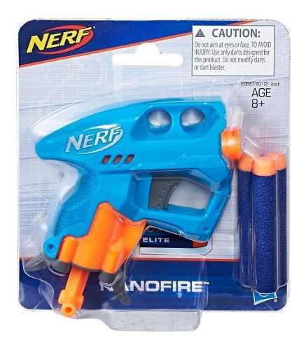 Hasbro Nerf N-strike Nano Fire Ast, Color Azul 3 Tiros