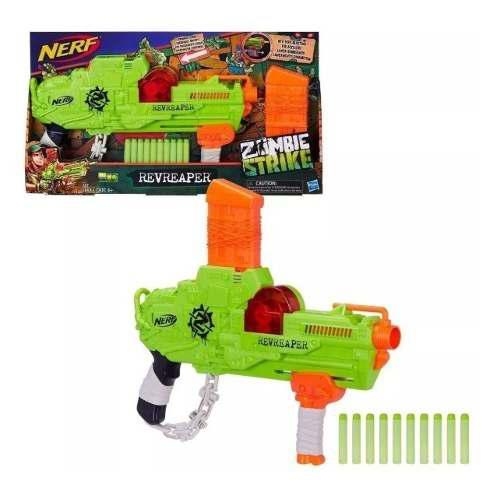 Hasbro Nerf Zombie Strike Revreaper,10 Dardos Verde