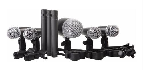 Kit De 8 Microfonos Para Bateria Proel Dmh8xl Envío