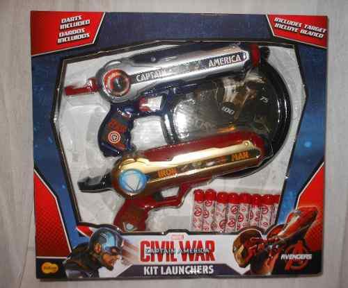 Kit Launchers Lanza Dardos Vengadores Marvel Avengers