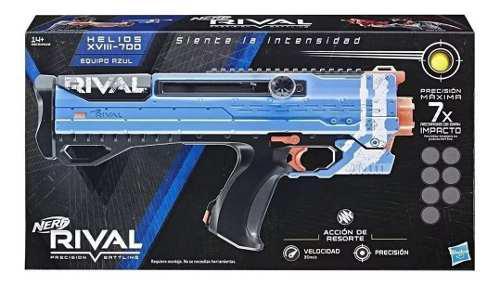 Lanzador Nerf Rival Helios Xviii 700 7 Tiros Equipo Azul