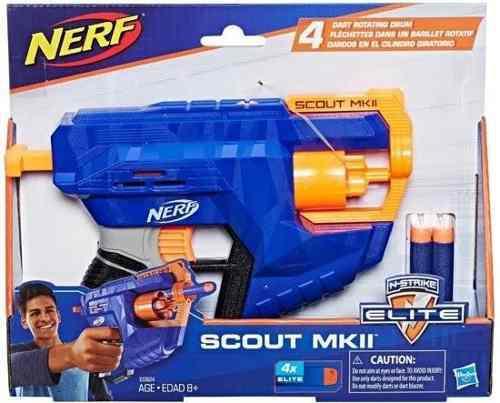 Lanzador Nerf Scout Mkii 4 Dardos