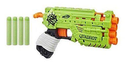 Lanzador Nerf Zombie Strike 4x Quadrot +8