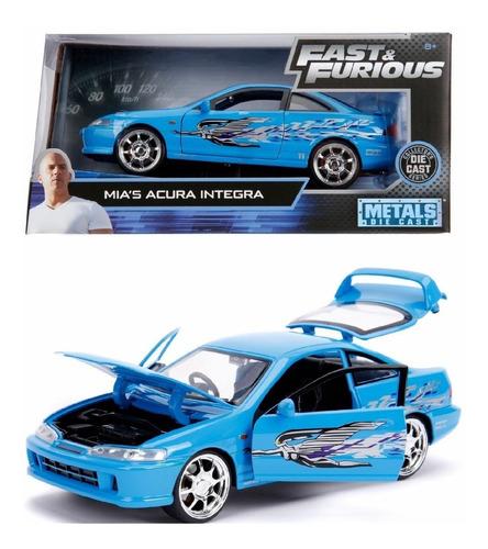 Mia's Acura Integra Azul  Rapido Y Furioso 1:24 Jada
