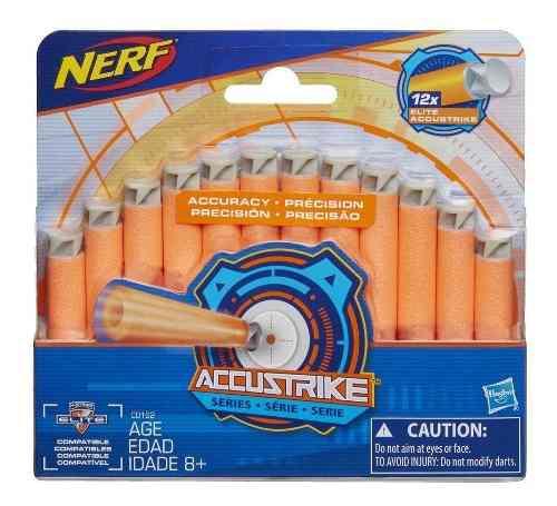 Nerf Accustrike 1 Paquete De 12 Dardos Hasbro Comp. Elite