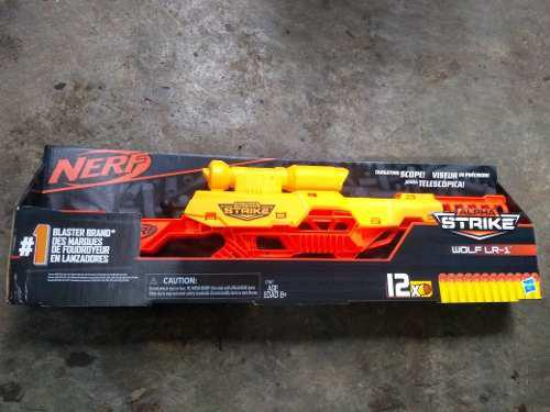 Nerf Alpha Strike Wolf Lr-1 Nueva Amarilla 12 Dardos