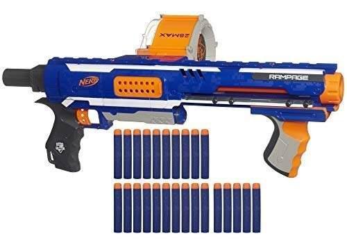 Nerf Rampage N-strike Blaster De Juguete De Élite Con 25 Go
