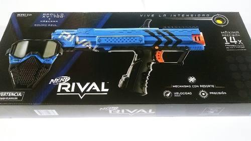 Nerf Rival Apollo Xv-700 Con Mascara Azul Y 14 Proyectiles