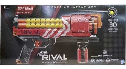 Nerf Rival Artemis Roja +30 Municiones Nueva Sellada Factura