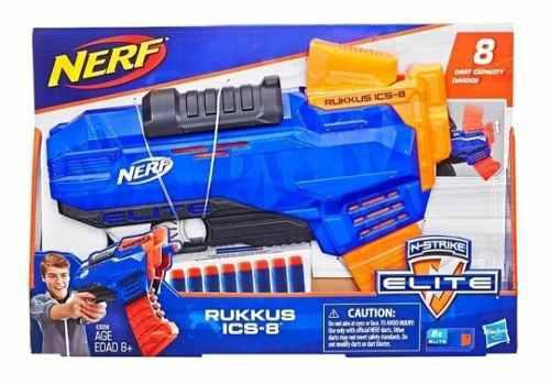 Nerf Rukkus Ics-8 Con 8 Dardos Y Cargador, Oferta Hasbro