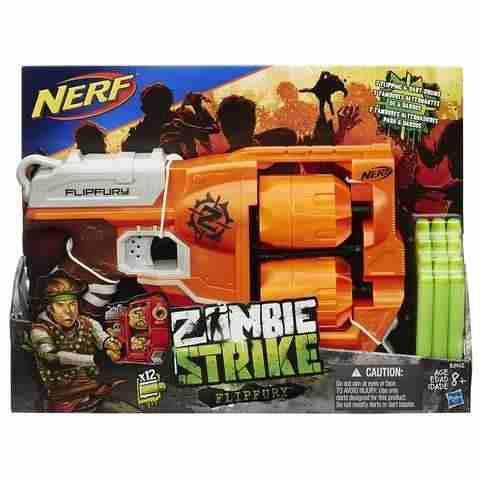 Nerf Zombie Strike Flipfury Lanza Dardos Zombiestrike