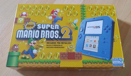 Nintendo 2ds Azul Electric Blue Mario Bros. 2 Bundle Oficial