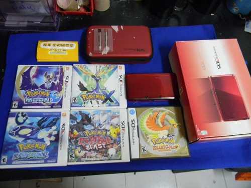 Nintendo 3ds Con 5 Juegos Pokemon (original Y Fisicos)