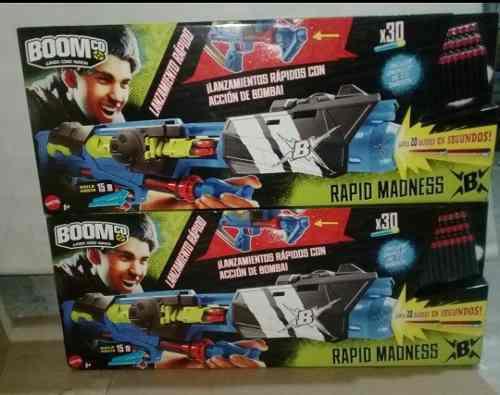 Pack 2 Lanzadores De Dardos Boom Co Mattel Rapid Madnessb