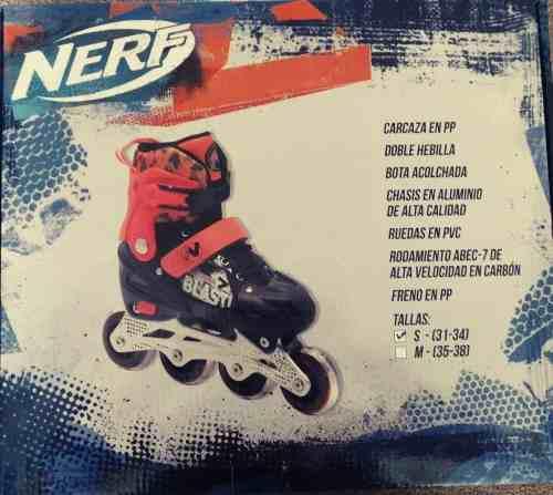 Pack Nerf Que Incluye 1 Patines En Linea + 1 Lanzador +envio