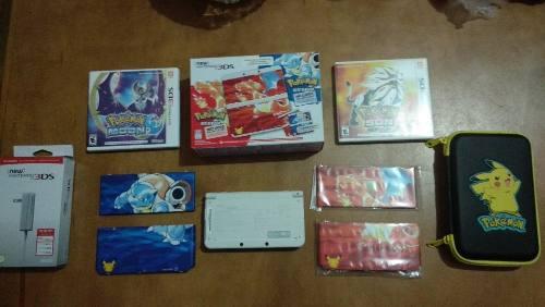 Pack Nintendo New 3ds Edición Pokémon Red Y Blue 20 Años
