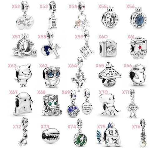 15 Charms Pandora Código X 100% Plata 925