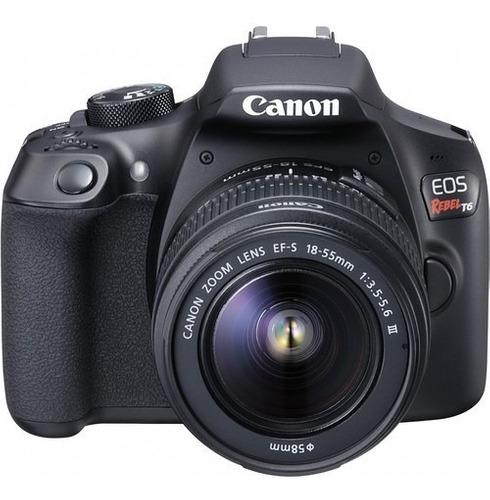 Canon Eos Rebel T6 Kit Con mm + Memoria Sd De 16gb