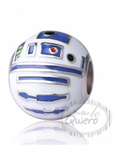 Charm 100% Plata R2d2 Star Wars Guerra Galaxias Para Pandora
