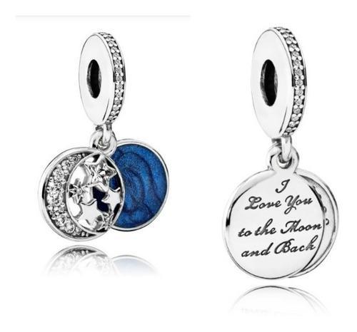 Charm Pandora Luna Y Estrellas Cielo Nocturno 100%plata 925
