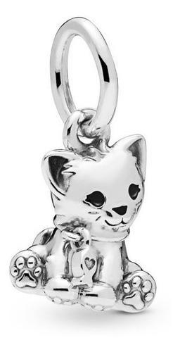 Charm Pandora Sweet Cat Gato Dulce 100% Plata 925 Compatible