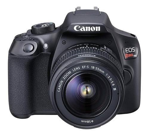 Cámara Reflex Canon Eos Rebel T6 Wifi Nfc 18mp Kit