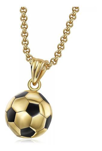 Collar Balón Futbol Oro Lam 18k + Estuche