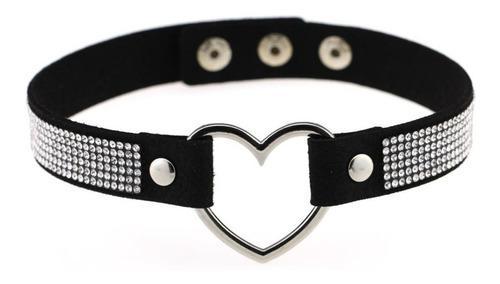 Collar Choker Gargantilla Corazon Con Cristal Elegante Moda