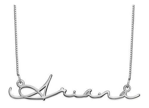 Collar Con Nombre En Firma Plata.925