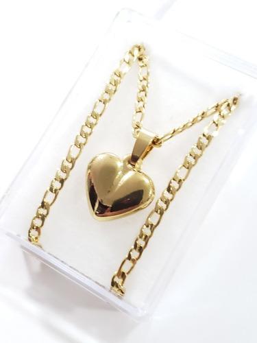 Collar Dije De Corazon 3d De 1.5 Cm Con Cadena De 50 Cm Envi