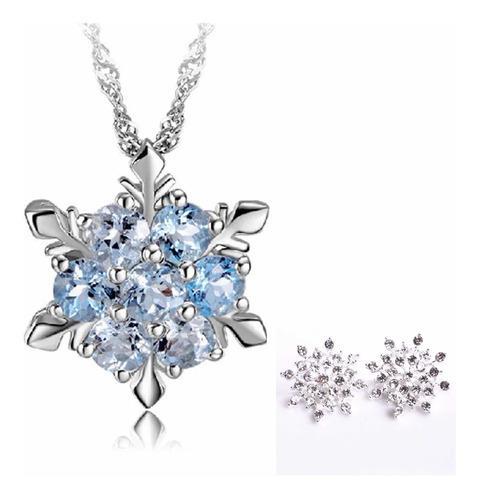 Collar Disney Frozen Elsa Copo De Nieve Swarovski Elements