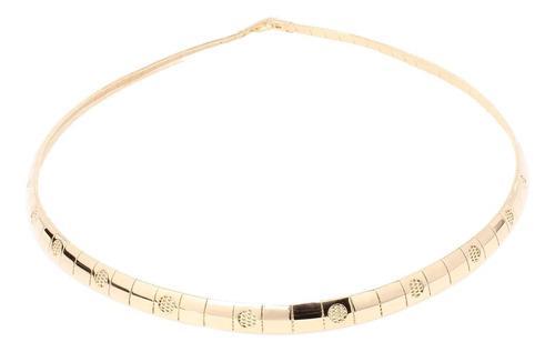 Collar Gargantilla De Mujer En Oro Laminado 18k