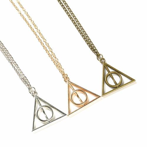 Collar Reliquias De La Muerte Harry Potter - Dije Y Cadena