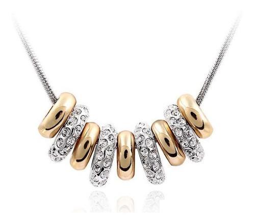 Dije Con Cristales Ocean Heart S9-12-62 Baño De Oro