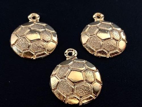 Dije De Balon De Futbol Chapa De Oro 14k +cadena +envio