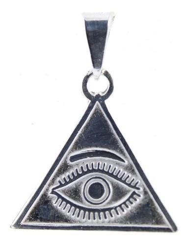 Dije De Piramide De Plata.925 Ojo Que Todo Lo Ve