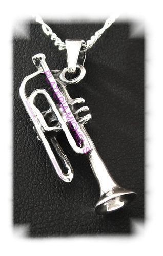Dije De Trompeta En Plata Ley 0.925