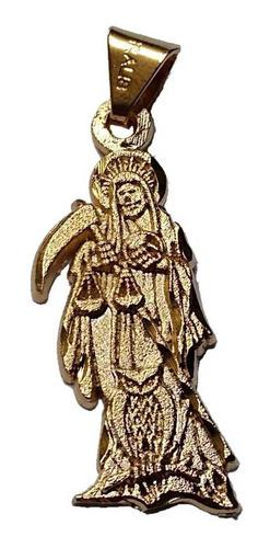 Dije Santa Muerte Chapa Oro 18 Kilates Mod 14 Protección