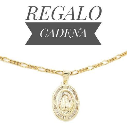 Hermosa Medalla Bautizo & P Comunión Oro 10k Sagrado