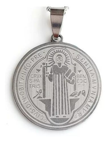 Medalla De San Benito Acero Inoxidable