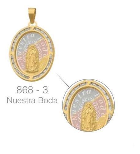 Medalla Nuestra Boda Circonias Oro 10 K + Obsequio