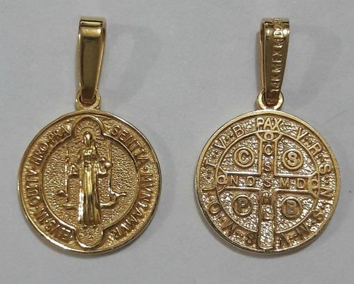 Medalla San Benito Oro Macizo 14kt 2gr