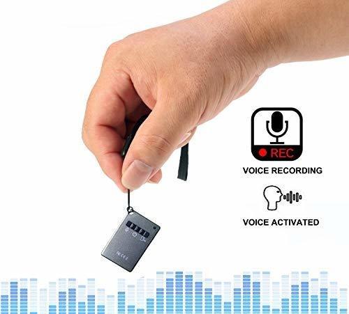 Mini Grabadora De Voz Espía 16gb Digital Activada Por Voz