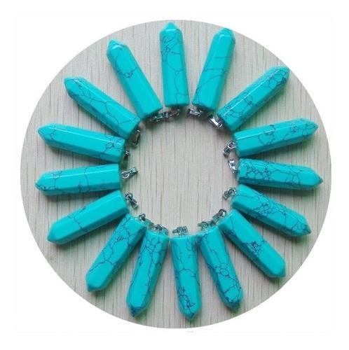 Turquesa Azul Natural Péndulo Dije Unisex 32mmx10mm