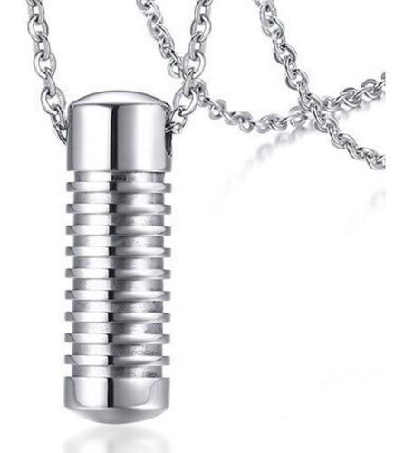 Urna Cremación Cenizas Dije Collar Acero Inox Unisex Q3r6v9